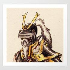 cyber samurai Art Print