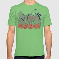 Desert Wave Mens Fitted Tee Grass SMALL