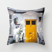 The Perfect Yellow Door Throw Pillow