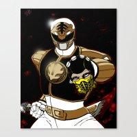 White Ranger Vs. Scorpion Canvas Print