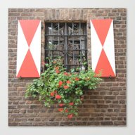 Vintage Window In Zons Canvas Print