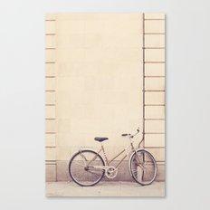 Beige bike Canvas Print