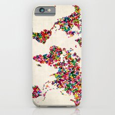 Butterflies Map Of The W… iPhone 6 Slim Case