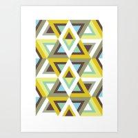 Pattern For Futurist Bea… Art Print