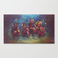 Children of the Gaia Tribe Canvas Print