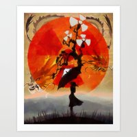 Umbrellaliensunshine: Na… Art Print