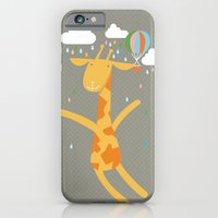 iPhone & iPod Case featuring giraffe in the rain by PinkNounou