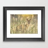Sneaky Kangaroo In The E… Framed Art Print