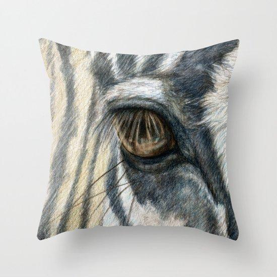 Zebra 808 Throw Pillow