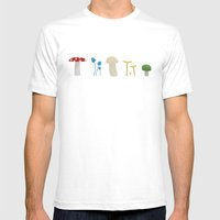Mushrooms Mens Fitted Tee White SMALL