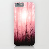 Pink fog in the forest iPhone 6 Slim Case