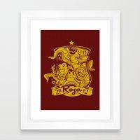 La Roja Framed Art Print