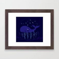 Whale Night Framed Art Print
