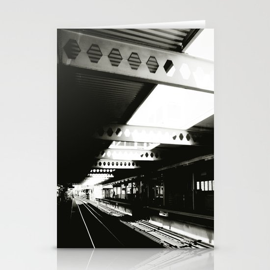 blue line Stationery Card