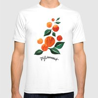 Orange Tree Mens Fitted Tee White SMALL