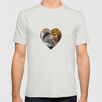 Squirrel Nutkin Mens Fitted Tee Silver SMALL