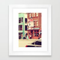 Ernest Tube Record Shop Framed Art Print
