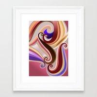Orangepurple Curve  Framed Art Print