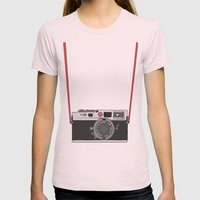 Camera Womens Fitted Tee Light Pink SMALL