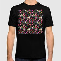 Leaves and Berries Mens Fitted Tee Black SMALL