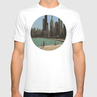 Chicago Mens Fitted Tee White SMALL