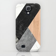 Marble and Wood Abstract Galaxy S4 Slim Case
