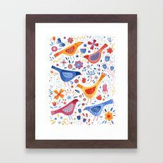Birds in a Garden Framed Art Print