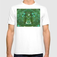 Abstract Gazebo Mens Fitted Tee White SMALL