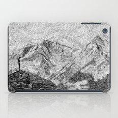 Child on the rock - Black ink iPad Case
