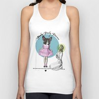 Pretty Chauncey Princess - French Bulldog Unisex Tank Top