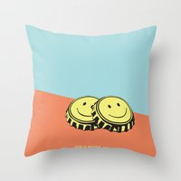 Two Happy Beers Throw Pillow