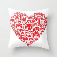 Gaming Love Throw Pillow