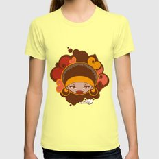 Bee-J Color Womens Fitted Tee Lemon SMALL