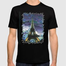 paris Black Mens Fitted Tee SMALL