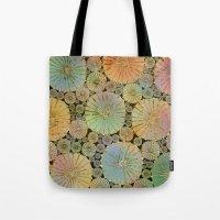 Abstract Floral Circles 2 Tote Bag