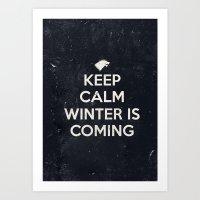 Winter Is Coming Art Print
