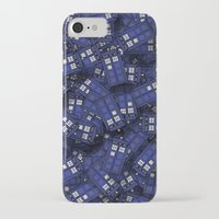 doctor who iPhone & iPod Cases featuring Tardis by 10813 Apparel