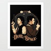 Duel in Space Art Print