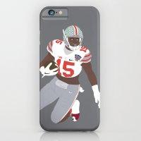 iPhone Cases featuring Ohio State Buckeyes - Ezekiel Elliott (2015) by Troy Arthur Graphics