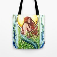 Kelp Forest Mermaid Tote Bag