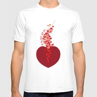 Love Overflow Mens Fitted Tee White SMALL