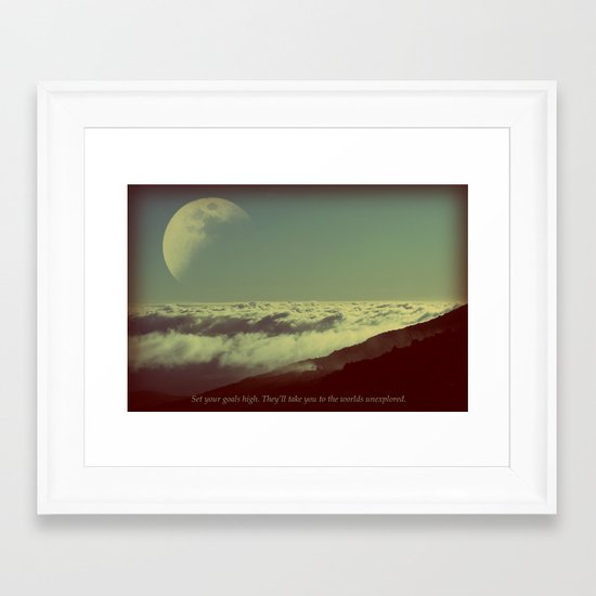 Set Your Goals High Framed Art Print