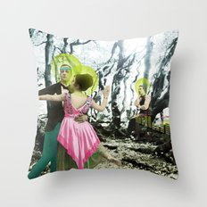 nothing here now but the recordings Throw Pillow
