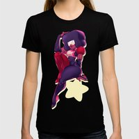 Garnet Womens Fitted Tee Black SMALL