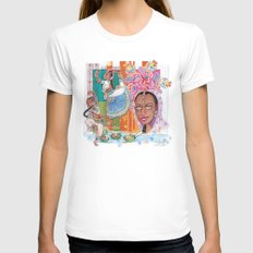India dancer Womens Fitted Tee White SMALL