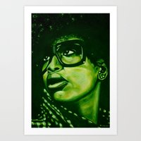 Badu?!-green Art Print