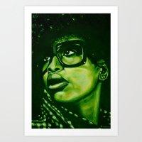 badu?!-green Art Print