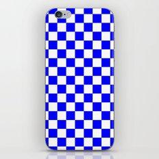 Checker (Blue/White) iPhone & iPod Skin