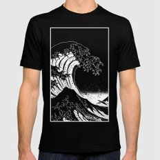 Hokusai, the Great Wave Black SMALL Mens Fitted Tee