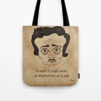 Poe Cat Tote Bag